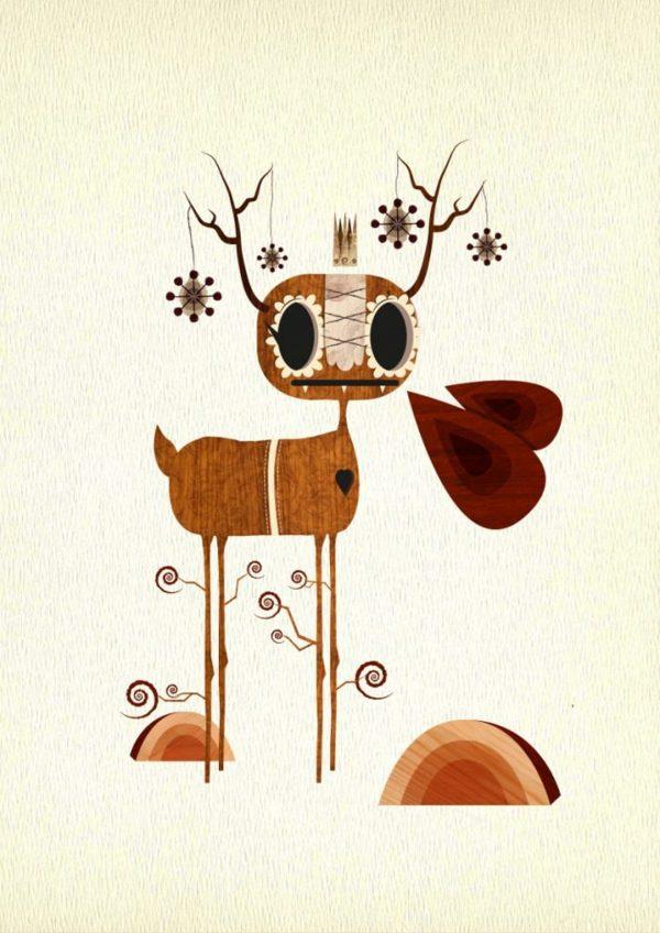 Ol' Tree Legs Art Print